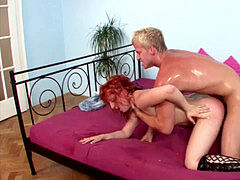 wooly Step-Mom tempt young Boy to Fuck her When Home alone