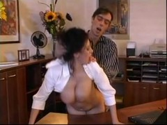 Beatrice big-breasted secretary office sex