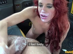 Personal trainer in wild taxi fuck