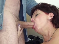 Excited gilf fucked by her stepson