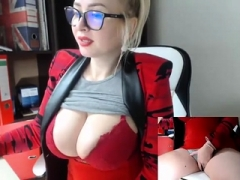Amateur, Blonde, Mamelons, Solo, Webcam