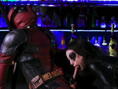 Awesome scene from Deadpool porn parody with Jennifer White