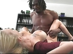 Dark monster cum cannon drilled sweet blonde