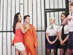 Cfnm brits give blowjob inmate