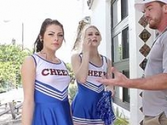 teenage cheerleader railed hot