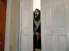 Step Son Spies On Aunt For Halloween Prank