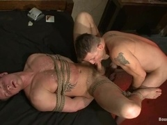 Brenn Wyson plays with Trent Diesel's balls before fucking his holes