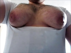soaking wet manboobs