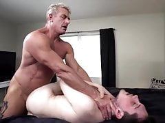 He meets his new step-son.. And barebacks him