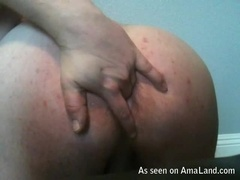 Pimpled Ass Dude Dildoing and Fingering His Asshole