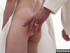 MormonBoyz - Shy Twink Takes Giant Priest dick