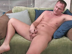 Older guy love to get naked and start rubbing his dick