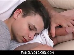 Sleeping Young Twink Stepson Wakes Up To Daddy's Big Cock