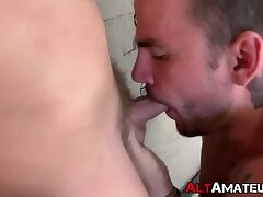 Alt amateurs Lukas and Drew swaping head and rimming