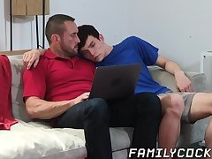 Beautiful stepson lets his stepdad fuck him for some cash