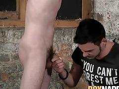 Slim twink tied and fucked raw hardcore