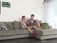 foursome latinos fucking bare on the couch
