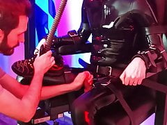 Hard edging and cumming for SaM in the bondage chair
