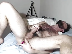 Bearded Hunk Intense Vibrator Cumming