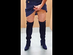 Boots & stockings & cum