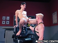 FistingCentral You're A Good Little Twink, Now Ride My Fist!