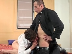 Daddy Priest Barebacks Young Esteban