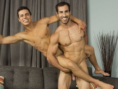 Twink-y bottom Kaleb Stryker gets railed by Randy