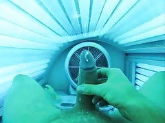 cum at the solarium