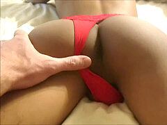 Daddy screws his tiny japanese twunk boy in a girlie red thong
