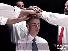 Mormon boy gangbanged by daddies in the temple