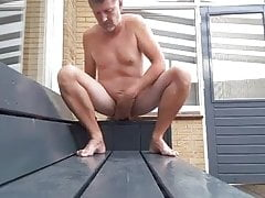 Using my smooth cock outside