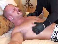 Muscle hairy man bound and kittled - Kyle Stevens