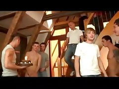 Twink Birthday Party Gangbang