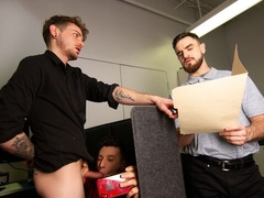 Young Collin Lust and Eric Vane fuck at the office