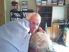 Two grandpas cuddling, kissing and loving - no hardcore