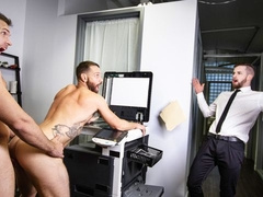 Alex Mecum and Kit Cohen fuck in the photocopy room
