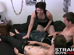 Alleged straight studs smash slutty pussy with hard dicks