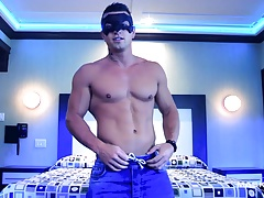 Maskurbate Midnight Striptease from Masked Hunk
