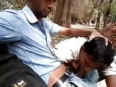 Exhib, Blowjob in the Park, Asian, India.