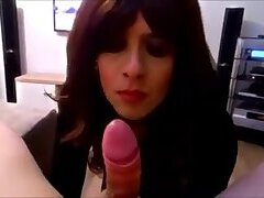 German Sissy Trans gets fucked by hard cock