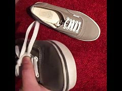 Cumming inside my Sister's grey Vans