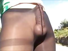 20180414 Cycling shorts with Pantyhose