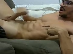 Rock hard French boy dumps his boy goo