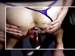 Fully Filled, glas, bottle, insertion, huge