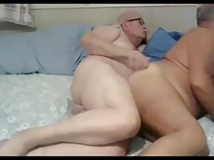 grandpa couple on webcam